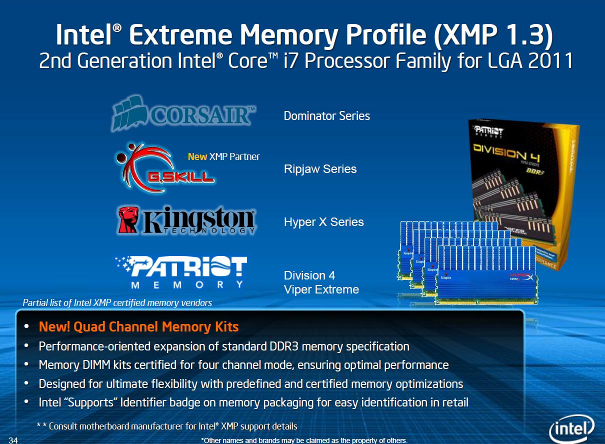 CPU Core i7-3960X im Test: Sechs Kerne gegen 56 GByte RAM - XMP 1.3 von vier Herstellern