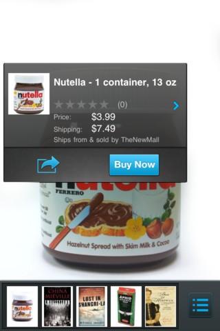 Flow erkennt auch Produktverpackungen. (Bild: A9.com)