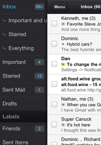 iPhone-Version der Google-Mail-App (Bild: Google)