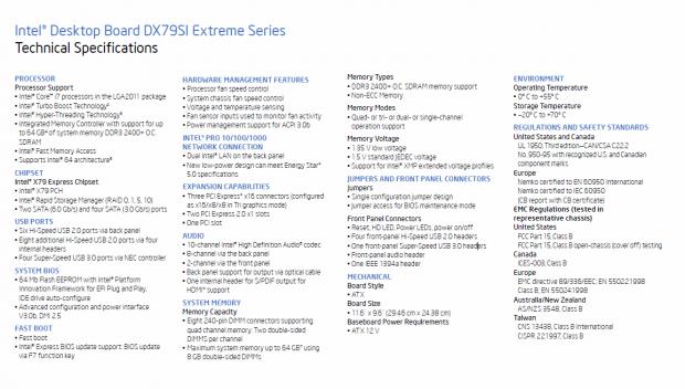 Vollständige Ausstattung des Intel-Boards...