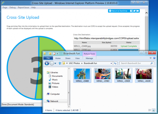 Internet Explorer 10 Platform Preview 4 mit CORS für XMLHttpRequest