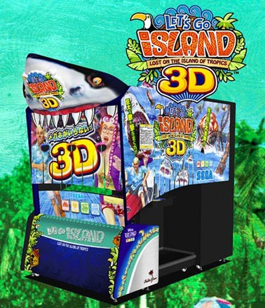 Segas brilllenloser 3D-Spielautomat Let's go Island 3D (Bild: Sega/3DI)