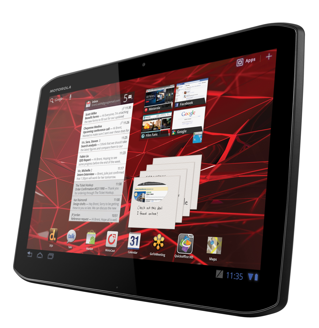 Xoom 2 und Xoom 2 Media Edition: Motorola bringt zwei neue Tablets mit Android 3.2 - Motorola Xoom 2