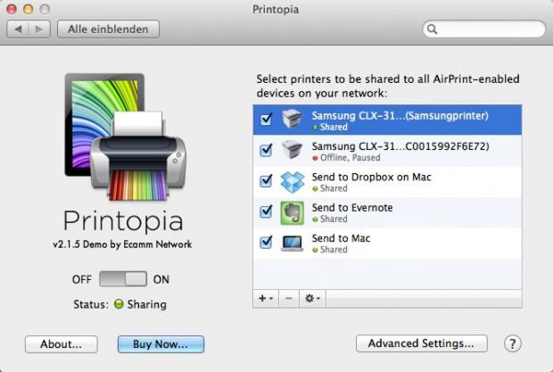 Printopia (Bild: Ecamm)