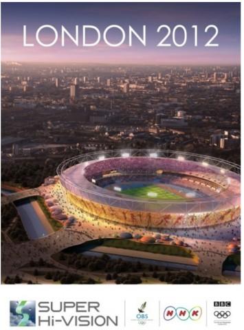Plakat zur Super-Hi-Vision-Übertragung während der Olympischen Spiele 2012 in London (Bild: NHK)