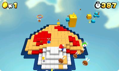 Test Super Mario 3D Land: Kreatives Retrofeuerwerk mit Waschbär-Mario - Nintendo hat viel Retrocharme in Super Mario 3D Land versteckt. Dieser Pilz ist ein ganzes Level.
