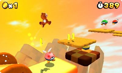 Durch den runden Schatten weiß der Spieler immer, wo Mario landet.
