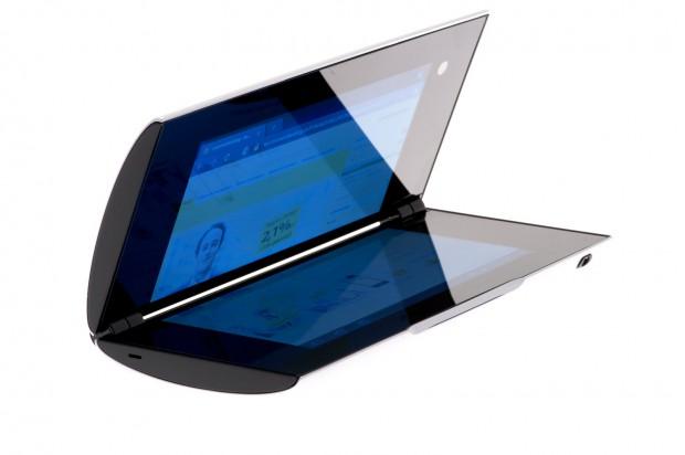 Hebt sich auffallend von der Tablet-Konkurrenz ab: Sonys Tablet S. (Bilder: Andreas Sebayang)