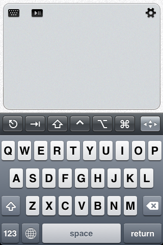 Touchpad auf dem iPhone (Bild: Edovia)