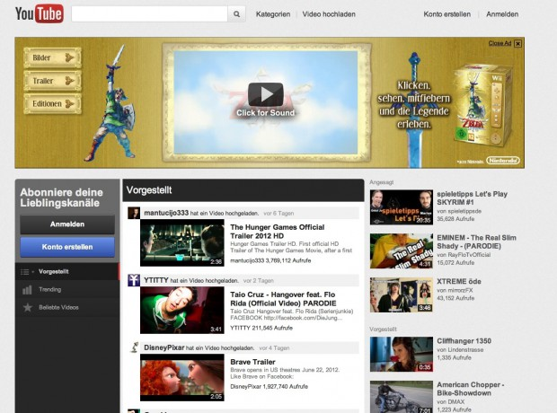 Youtube-Redesign (Bild: Youtube/Golem.de)