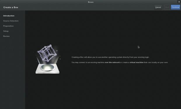 Boxes ist ein grafisches Frontend für KVM.