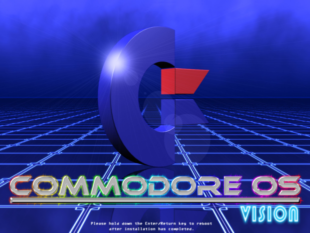 Der Splashscreen von Commodore OS Vision