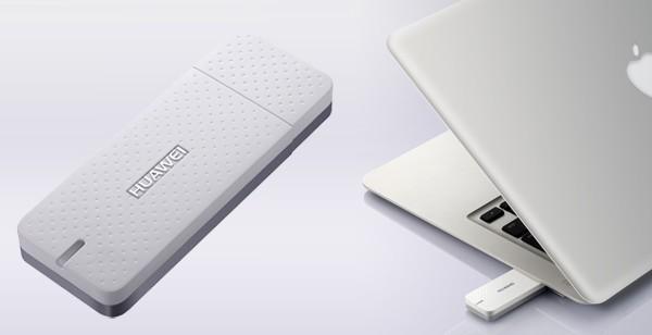 Huaweis flacher UMTS-Stick E369 ist für besonders flache Notebooks gedacht. (Bild: Huwei Devices)