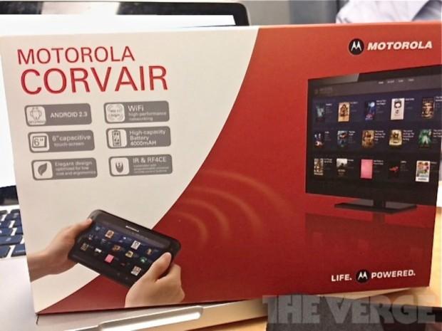 Motorola Corvair - Verpackung des Fernsteuerungs-Tablets mit Android (Bild: The Verge)