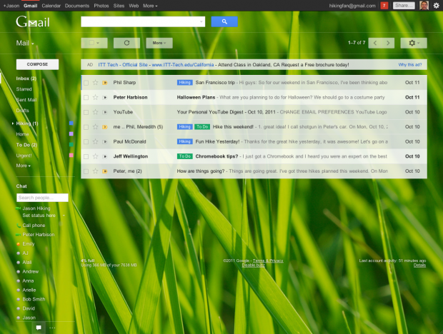 Google Mail in neuem Design