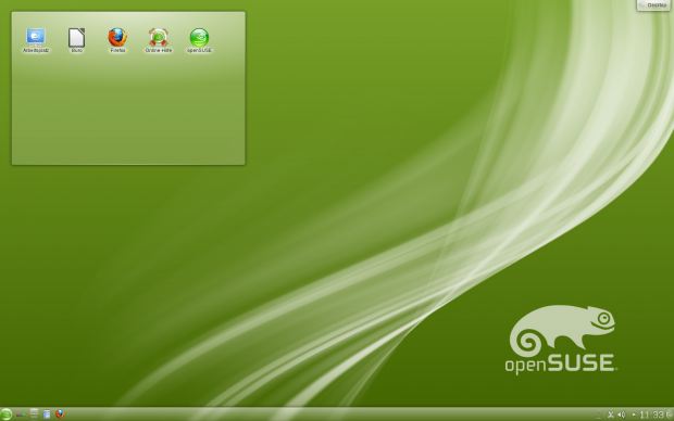 Der KDE-Desktop von Opensuse 12.1