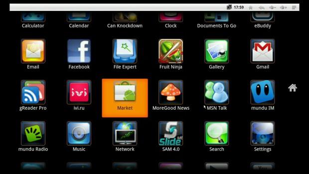 Iconbit Toucan W - Blick auf Android (Bild: Hersteller)