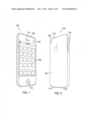Die iPhones identifizieren sich über ihre Kameras - Apple-Patentantrag 20110296508. (Bild: US-Patent- und Markenamt)