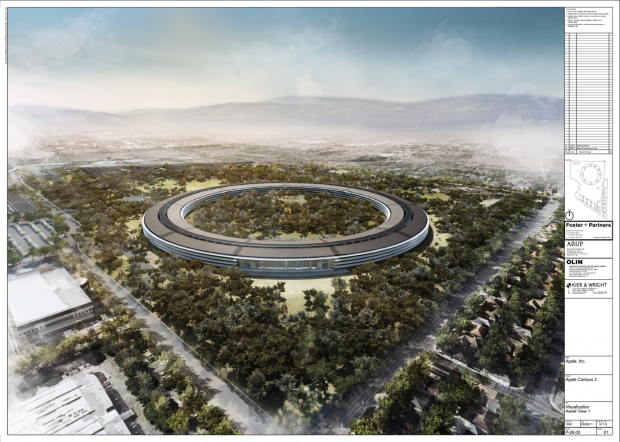 Pläne für den Apple Campus 2 von Foster + Partner (Bild: Cupertino City Council)