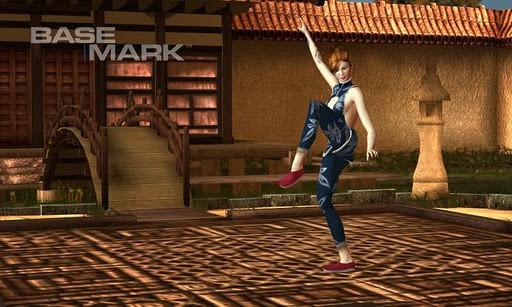 Basemark ES 2.0 Taiji Free - Kämpferin in asiatischem Tempel (Bild: Rightware)