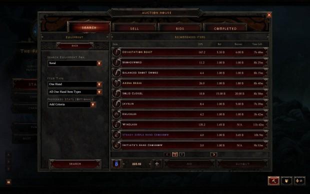 Echtgeld-Auktionshaus (Screenshot: Blizzard)