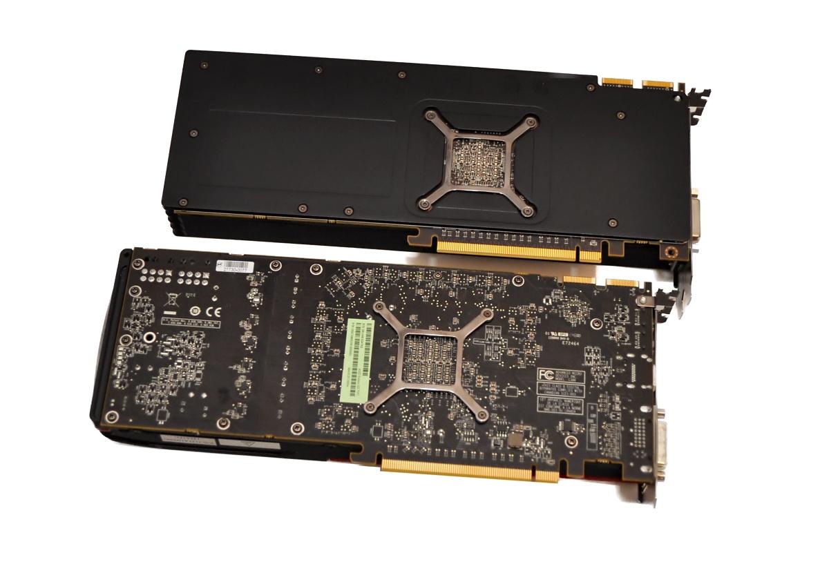 Radeon HD 7970 im Test: Die schnellste und sparsamste GPU kommt von AMD - Keine Backplate bei der 7970 (unten) Bild: Nico Ernst / Golem.de
