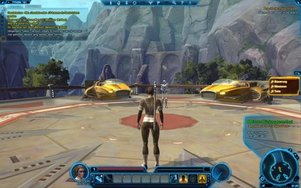 Eine junge Jedi-Ritterin am Taxistand von Tython