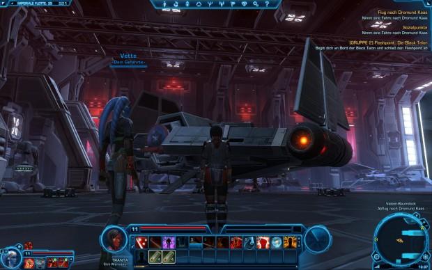 Ein riesiger Hangar der imperialen Flotte
