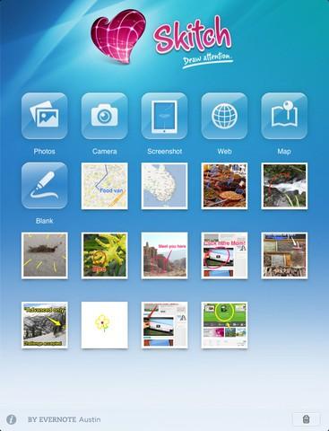 Skitch auf dem iPad (Bild: Evernote)