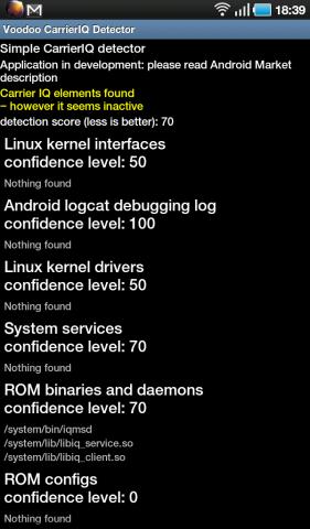 Hinweise auf Carrier IQ auf dem Samsung Galaxy Tab