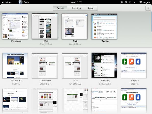 Die neue Benutzeroberfläche des Gnome-Webbrowsers Epiphany