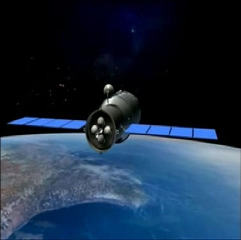 Die experimentelle chinesische Raumstation Tiangong I wurde im September 2011 ins All geschossen. (Bild: Jiuquan Satellite Launch Centre/Reuters)