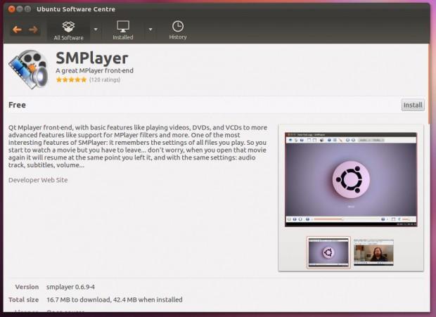 Im Software Center unter Ubuntu 12.04 lassen sich mehrere Screenshots integrieren.