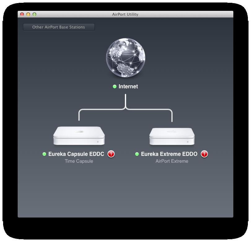 Airport Utility 6: Apple reduziert Funktionsumfang seiner Routersoftware - Das neue Airport Utility 6 (Screenshots: Golem.de)