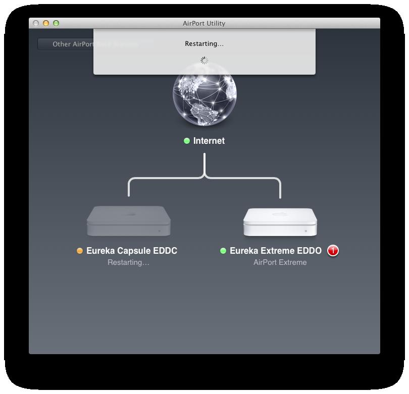 Airport Utility 6: Apple reduziert Funktionsumfang seiner Routersoftware - Neustart nach Firmware-Update