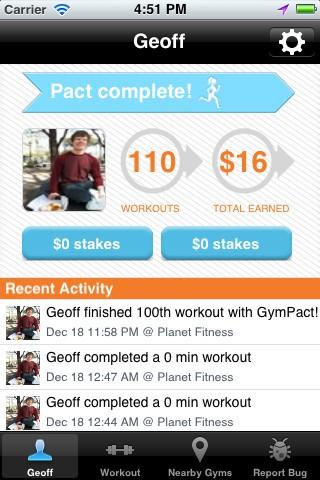 Gympact-App (Bild: Gympact)