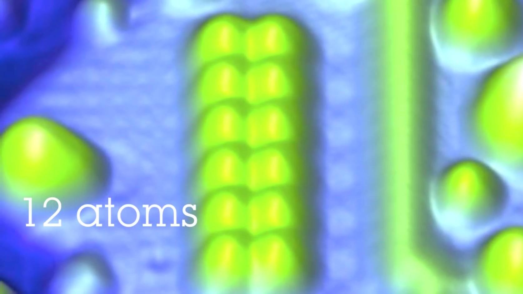 Extreme Speicherdichte: IBM speichert 1 Bit in nur 12 Atomen - IBM speichert 1 Bit in 12 magnetischen Atomen, ...