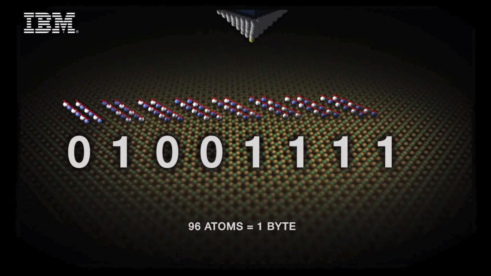 Extreme Speicherdichte: IBM speichert 1 Bit in nur 12 Atomen -