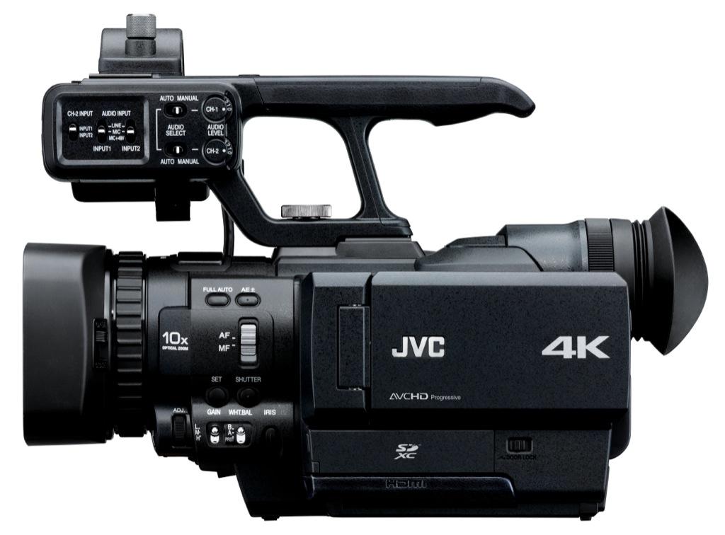 JVC: Camcorder filmt mit 4K-Auflösung auf vier Karten - JVC GY-HMQ10 (Bild: JVC)