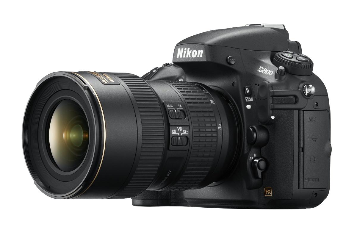 Vollformat-DSLR: Nikon D800 mit 36 Megapixeln und Videokomfort - D800 mit 16-35-Objektiv (Bild: Nikon)