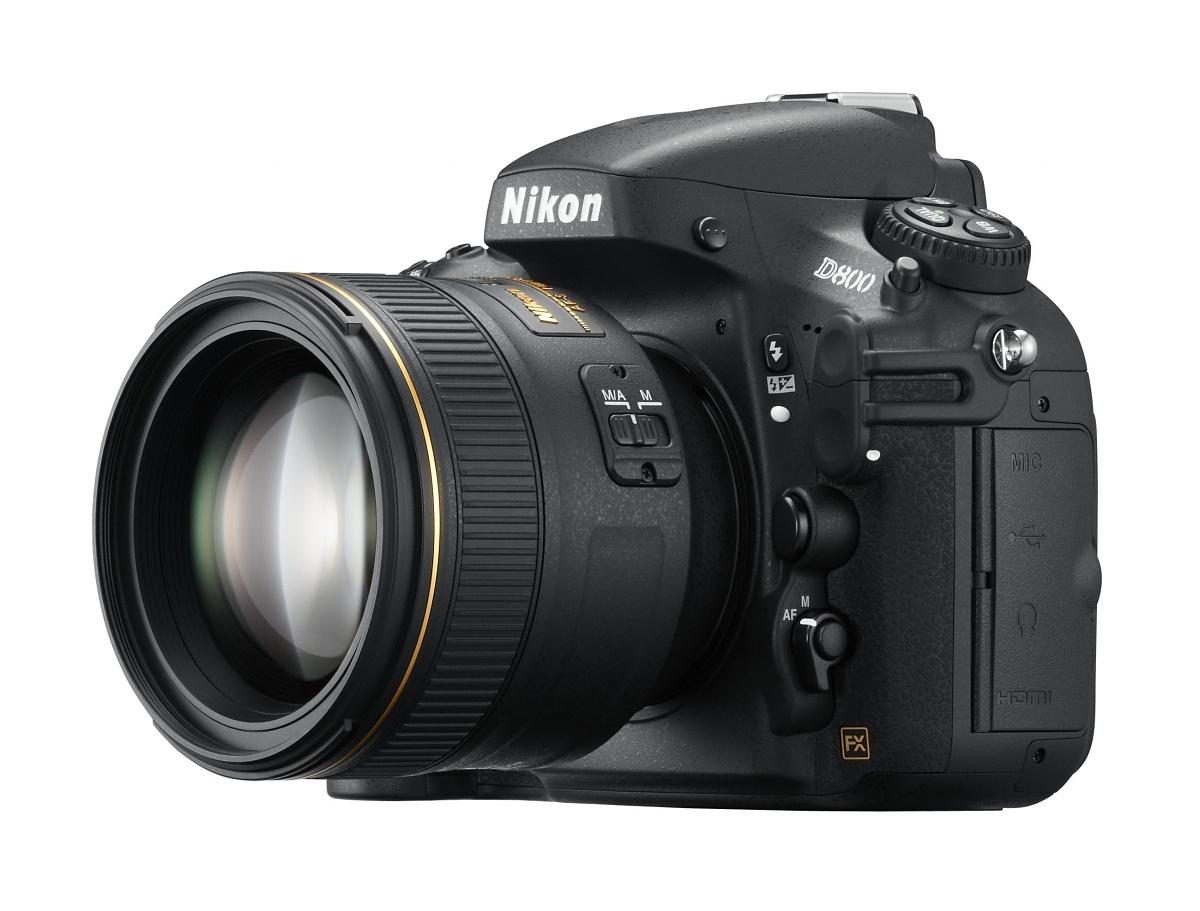Vollformat-DSLR: Nikon D800 mit 36 Megapixeln und Videokomfort - D800 mit 85mm-Objektiv (Bild: Nikon)