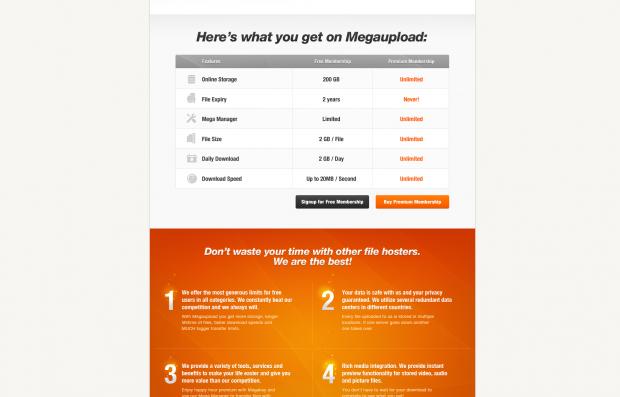 Dateilimits bei Megaupload laut Google-Cache