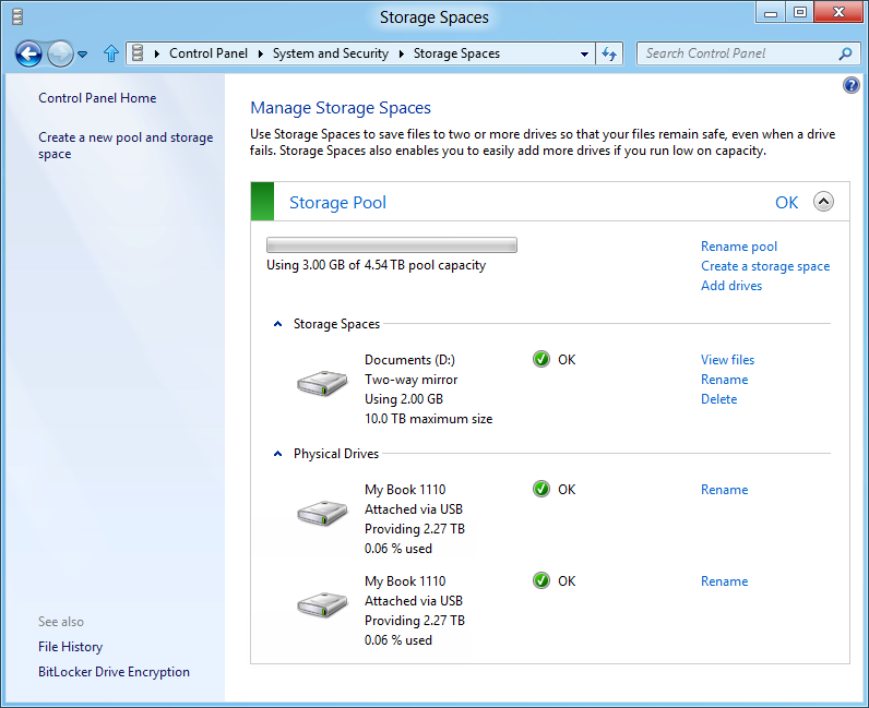 Windows 8: Storage Spaces gegen volle Festplatten - Resiliency-Attribute festlegen
