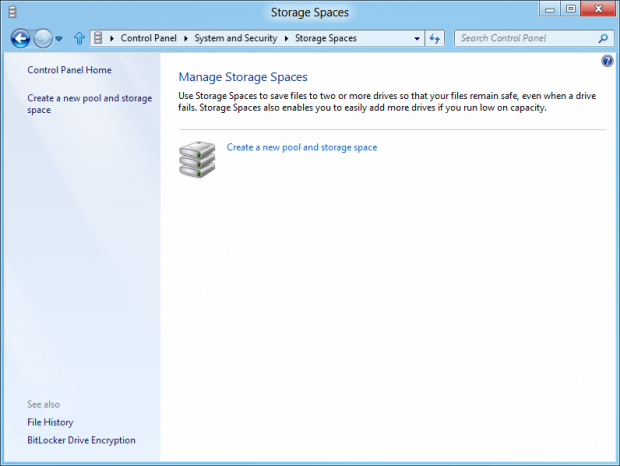 Storage Spaces in Windows 8 verwalten