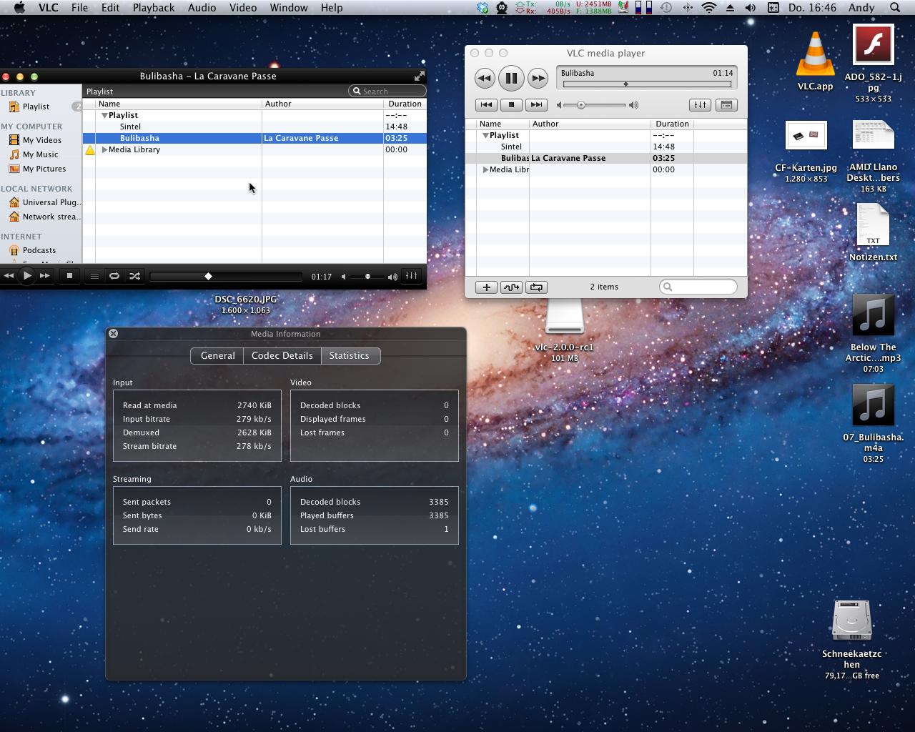 Mediaplayer: VLC 2.0 als Release Candidate erschienen - VLC 2 RC1 (l.) und VLC 1 (r.) im Vergleich (Screenshots: Golem.de)