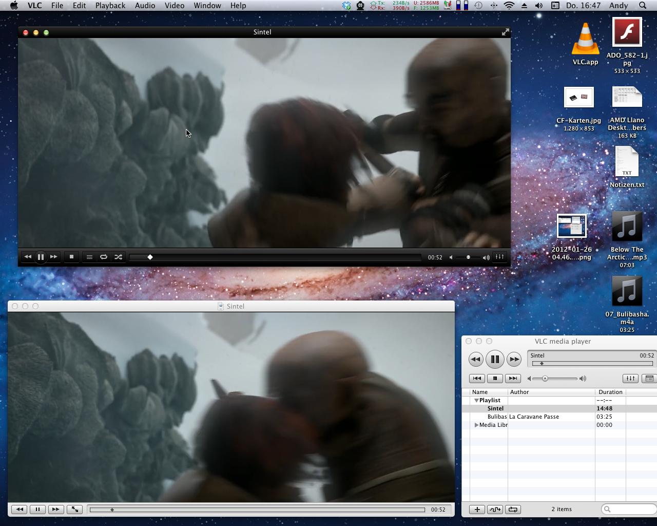 Mediaplayer: VLC 2.0 als Release Candidate erschienen - Bei VLC 2.0 wird zwischen dem Videofenster und...