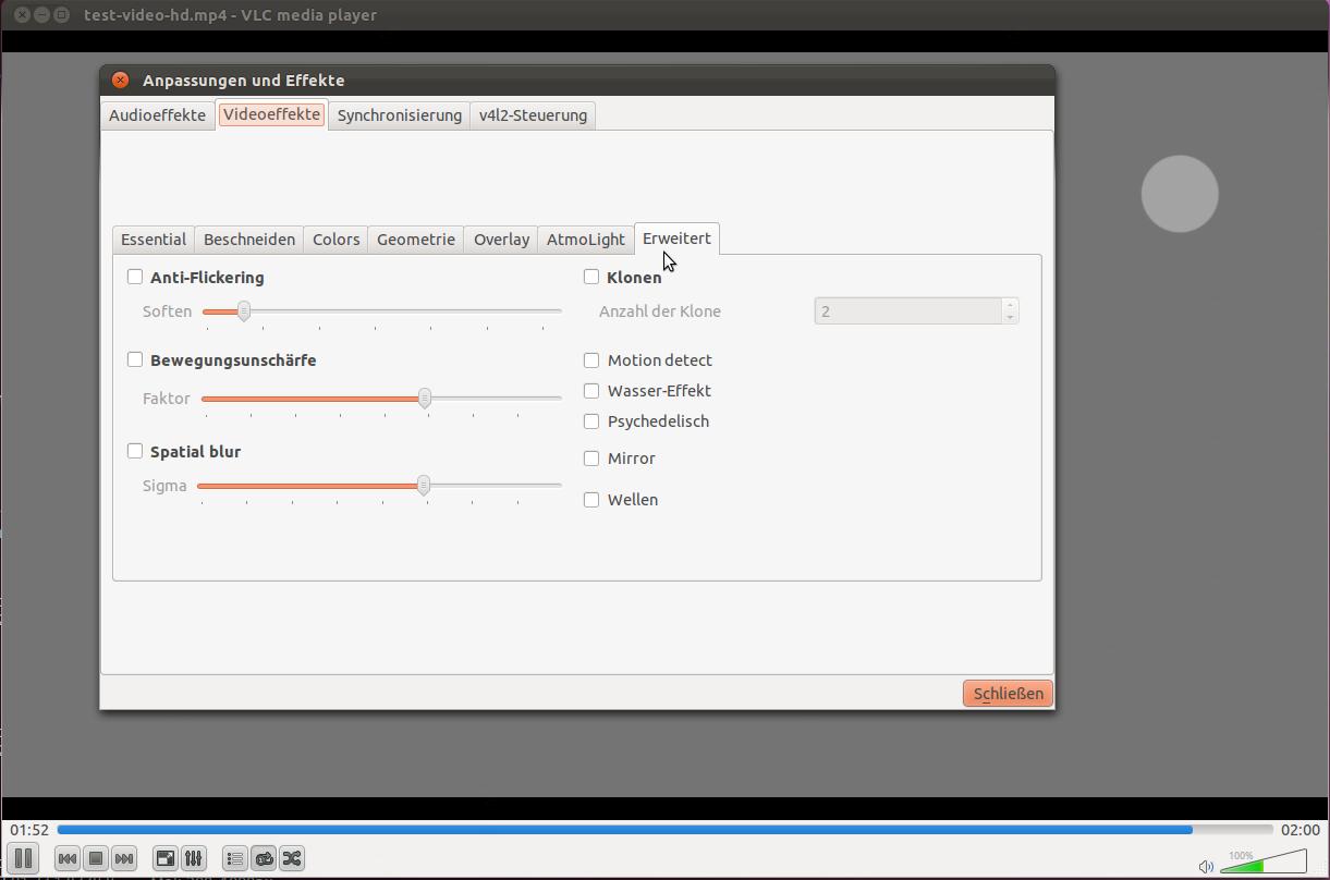Mediaplayer: VLC 2.0 als Release Candidate erschienen - Die Videoeffekte mit Neuerungen