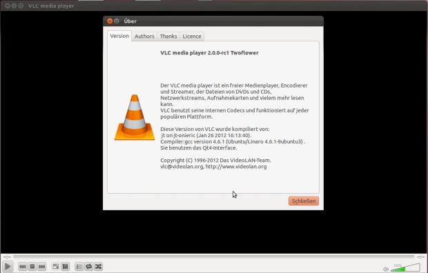 Die Benutzeroberfläche unter Linux basiert auf Qt4.
