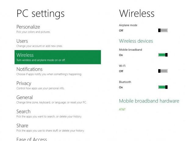 Windows 8: Netzwerkeinstellungen