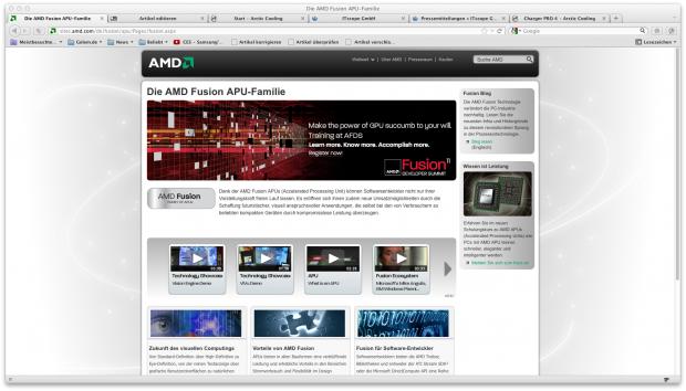 Stein des Anstoßes: Arctic sieht sein Markenrecht durch AMD Fusion bedroht. (Screenshot: Golem.de)